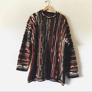 Coogi vintage 3D knit grandpa pullover sweater